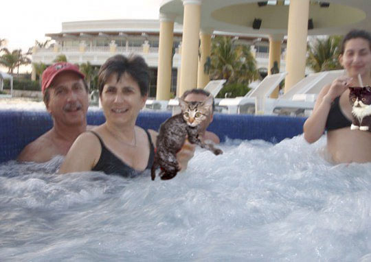 i'm always a little creeped out when people sit on someone's lap in a hot tub.  and you know what?  this is no exception